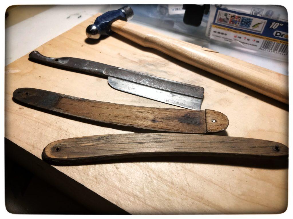 old japanese frameback razor dismounted